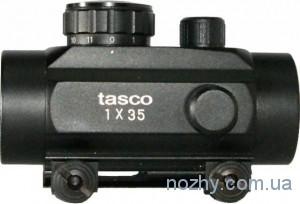 фото Прицел коллиматорный Tasco 1х35 с креплением широким на планку Weaver цена интернет магазин