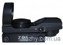 Прицел кол.1х22х33 ZOS 4 маркера, 2 цвета, крепление узкое (8 мм)