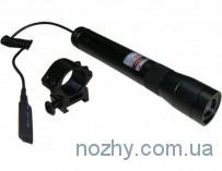 Лазерный целеуказатель-фонарь (зеленый лазер) мощность 100mW, провод