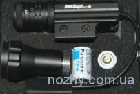 Лазерный целеуказатель Accurate с зеленой точкой, со сменной головкой — подствольный фонарик, крепление широкое (провод)