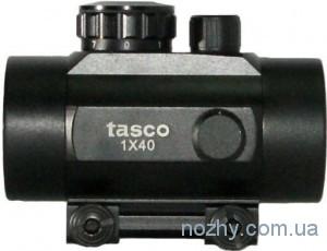 фото Прицел коллиматорный Tasco 1х40 с креплением узким на ласточкин хвост цена интернет магазин