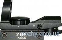 Прицел коллиматорный 1х22х33 ZOS (4 маркера) с широким креплением