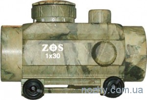фото Прицел коллиматорный 1х30 ZOS камуфлированный с креплением широким цена интернет магазин