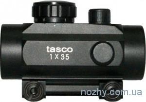 фото Прицел коллиматорный Tasco 1х35 с креплением узким на ласточкин хвост цена интернет магазин