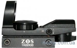 фото Прицел коллиматорный ZOS 1х22х33 с креплением узким на ласточкин хвост цена интернет магазин