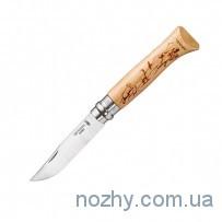 """Нож Opinel №8 """"Горный козел и сурок"""""""