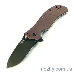 фото Нож ZT 0350 Aluminum Handle Brown цена интернет магазин