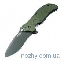 Нож ZT 0350 Aluminum Handle Green
