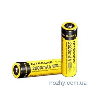 фото Аккуммуляторная батарея Nitecore 18650 Li-ion 2600 mAh цена интернет магазин