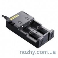 Зарядное устройство Nitecore I2 charger с адаптером 12V для авто зарядки