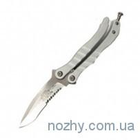 Нож Microtech Metalmark Satin PS Silver