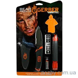 фото Фонарь+нож+пончо Gerber Bear Grylls 31-002493 цена интернет магазин