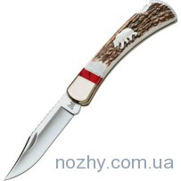 Нож Buck 110EKSLE4B Folding Hunter WBC Grizzly Bear