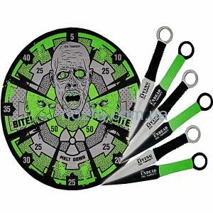 фото Набор ножей Boker UC Zombie Target с мишенью цена интернет магазин