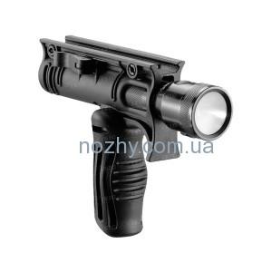 фото Рукоятка передняя FAB Defense FFA-T4 складная с креплением для фонарей 30 мм цена интернет магазин