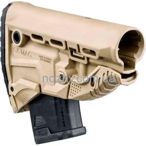 фото Приклад FAB Defense GK-MAG Survival Buttstock для АК без адаптера. Цвет - песочный цена интернет магазин