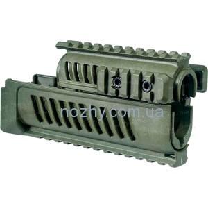 фото Цевье FAB Defense AK-47 полимерное для АК47/74. Цвет - оливковый цена интернет магазин