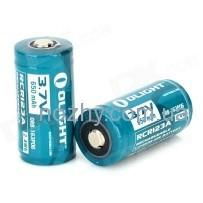 Аккуммуляторная батарея Olight RCR123А Li-Ion 3.7v 650 mAh(1 шт)