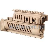 Цевье FAB Defense AK-47 полимерное для АК47/74. Цвет — песочный