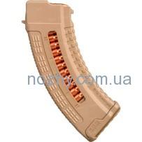 Магазин FAB Defense Ultimag AK 30R Tan кал. 7,62х39 с окном. Цвет — песочный