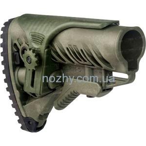 фото Приклад FAB Defense GLR-16 CP с регулируемой щекой для AR15/M16. Цвет - оливковый цена интернет магазин
