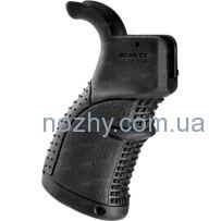 Рукоятка пистолетная FAB Defense AGR-43 прорезиненная для M4/M16/AR15. Цвет — черный