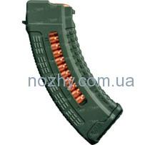 Магазин FAB Defense Ultimag AK 30R Olive кал. 7,62х39 с окном. Цвет — оливковый