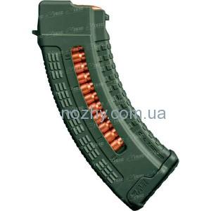 фото Магазин FAB Defense Ultimag AK 30R Olive кал. 7,62х39 с окном. Цвет - оливковый цена интернет магазин