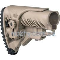 Приклад FAB Defense GLR-16 CP с регулируемой щекой для AR15/M16. Цвет — песочный