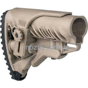 фото Приклад FAB Defense GLR-16 CP с регулируемой щекой для AR15/M16. Цвет - песочный цена интернет магазин