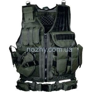 фото Жилет тактический UTG ( Leapers) Law Enforcement (ДЛЯ ЛЕВШИ) цена интернет магазин