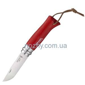 """фото Нож Opinel №8 """"Adventurer"""" красный цена интернет магазин"""
