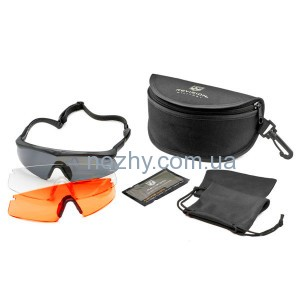 фото Очки REVISION Sawfly Dlx Large оправа - черная/матовокрасная цена интернет магазин