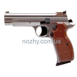 фото Пистолет пневматический SAS P 210 Silver Blowback! Корпус - металл цена интернет магазин
