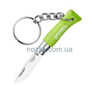 фото Нож Opinel Keychain №2 Inox. Цвет - салатовый цена интернет магазин