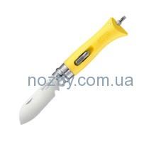 Нож Opinel DIY №9 Inox. Цвет — желтый
