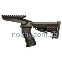 Приклад САА Integrated Pistol Grip,Upper Picatinny Rail,Buffer Tube & Collapsible Butt Stock для Remington 870