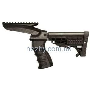 фото Приклад САА Integrated Pistol Grip,Upper Picatinny Rail,Buffer Tube & Collapsible Butt Stock для Remington 870 цена интернет магазин