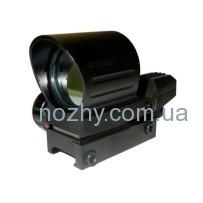 Прицел 1х33 НD111 коллиматорный полузакрытый, крепление 21 мм (4 маркера, 2 цвета)