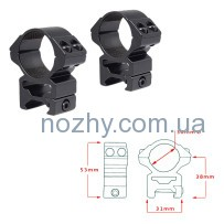 Кольца Hawke Matchmount 30mm/Weaver/High