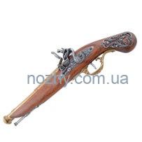 Пістолет кремінний, латунь, Англія, XVIII століття (макет) Denix 1196L