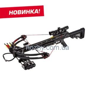 фото Арбалет Man Kung XB52 Stalker KIT (MK-XB52BK-KIT) чорний, РОЗШИРЕНА КОМПЛЕКТАЦІЯ цена интернет магазин
